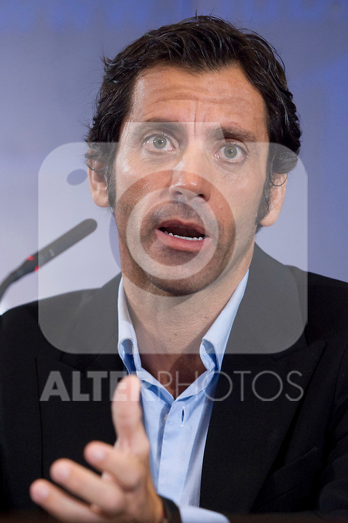 Atletico de Madrid's new coach Quique Sanchez Flores during his presentation. October 26 2009. (ALTERPHOTOS/Acero).