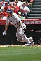 05/06/12 Anaheim, CA:Toronto Blue Jays third baseman Brett Lawrie #13 during an MLB game against the Toronto Blue Jays played at Angel stadium. The Angels defeated the Blue Jays 4-3