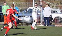 Nils Beisser (Büttelborn) am Ball - 25.02.2018: SKV Büttelborn vs. SV Unter-Flockenbach, Gruppenliga Darmstadt
