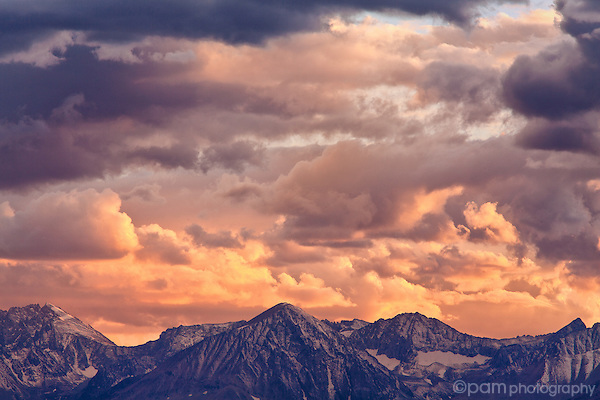Stormy sunset over California Sierras