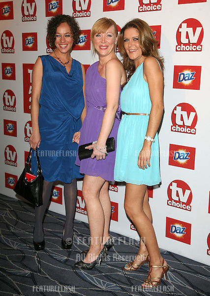 Alica Eyo, Kelli Hollis and Gemma Oaten arriving for the 2011 TVChoice Awards, at The Savoy, London. 13/09/2011 Picture by: Alexandra Glen / Featureflash