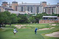 Martin Laird (SCO) hits his approach shot on 15 during Round 2 of the Valero Texas Open, AT&T Oaks Course, TPC San Antonio, San Antonio, Texas, USA. 4/20/2018.<br /> Picture: Golffile | Ken Murray<br /> <br /> <br /> All photo usage must carry mandatory copyright credit (© Golffile | Ken Murray)