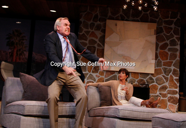 "As The World Turns' Colleen Zenk stars along with Malachy Cleary in ""Other Desert Cities"" at the tech rehearsal (in costume) on October 14, 2015 at Whippoorwill Halll Theatre, North Castle Library, Kent Place, Armonk, New York.  (Photo by Sue Coflin/Max Photos)"