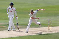 Steven Patterson in bowling action for Yorkshire during Essex CCC vs Yorkshire CCC, Specsavers County Championship Division 1 Cricket at The Cloudfm County Ground on 8th July 2019