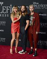 "LOS ANGELES, USA. September 30, 2019: Heidi Klum, Tom Kaulitz & Bill Kaulitz at the world premiere of ""Maleficent: Mistress of Evil"" at the El Capitan Theatre.<br /> Picture: Jessica Sherman/Featureflash"