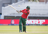 Mohammad Saifuddin (Bangladesh) slaps the ball straight to mid off and is out for no score during Pakistan vs Bangladesh, ICC World Cup Cricket at Lord's Cricket Ground on 5th July 2019