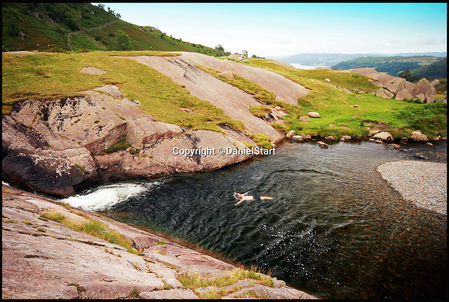 BNPS.co.uk (01202 558833)<br /> Pic: DanielStart/BNPS<br /> <br /> Buckstones Jum, Rydal Beck.<br /> <br /> They are two of country's hottest holiday destinations, visited by millions of tourists each year - but now a new book has revealed the hidden gems of the Lake District and Yorkshire Dales.<br /> <br /> The guide turns its back on hotspots like Lake Windemere, Coniston, Kendal and Bowness, instead unveiling more than 400 of the best kept secrets of Britain's most popular national parks, found only off the beaten track.<br /> <br /> It lifts the lid on hidden waterfalls, huge caverns, forgotten tunnels, secret valleys and islands, bothy huts, lost ruins, magical meadows and ancient forest away from the tourist trail.<br /> <br /> The Wild Guide to the Lake District and Yorkshire Dales is published by Wild Things Publishing on June 1 and costs £15.99.