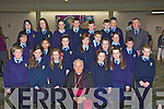 St Oliver's NS Killarney with Bishop Bill Murphy and their teacher Tommy Galvin at their Confirmation in the Church of the Resurrection Killarney on Friday