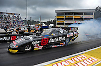 Oct. 2, 2011; Mohnton, PA, USA: NHRA funny car driver Blake Alexander during the Auto Plus Nationals at Maple Grove Raceway. Mandatory Credit: Mark J. Rebilas-
