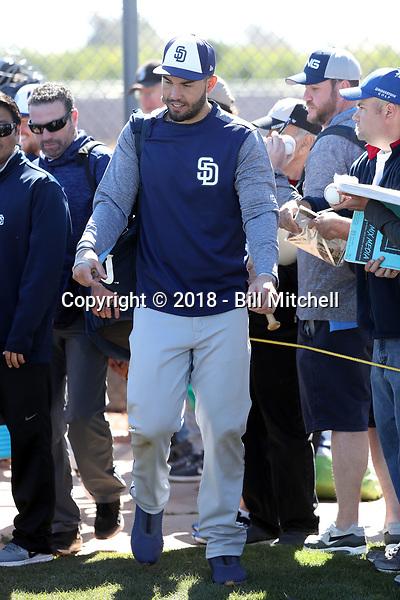 Eric Hosmer - San Diego Padres 2018 spring training (Bill Mitchell)