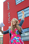 A Level Results Day 2012.Karlie Williams.Coleg Gwent Cross Keys Campus.16.08.12.©Steve Pope