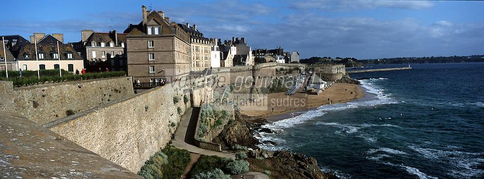 Europe/France/Bretagne/35/Ille-et-Vilaine/Saint-Malo: Les remparts de la Ville Close
