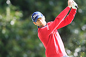 Gregory BOURDY (FRA) during round 1 of the 2015 BMW PGA Championship over the West Course at Wentworth, Virgina Water, London. 21/05/2015<br /> Picture Fran Caffrey, www.golffile.ie: