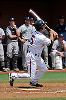 Rutgers Scarlet Knights infielder Nick Favatella (5) during game against Connecticut Huskies at Bainton Field in Piscataway, New Jersey;  May 01, 2011.  Connecticut defeated Rutgers 6-2.  Photo By Tomasso DeRosa/Four Seam Images