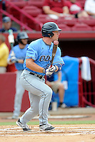 Designated hitter Ben Slaton (23) of the Old Dominion Monarchs in an NCAA Division I Baseball Regional Tournament game against the Maryland Terrapins on Friday, May 30, 2014, at Carolina Stadium in Columbia, South Carolina. Maryland won, 4-3. (Tom Priddy/Four Seam Images)