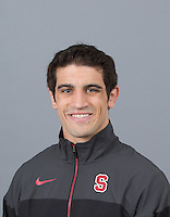 STANFORD, CA - SEPTEMBER 24, 2014--Peter Galli, with Stanford University Men's Wrestling.