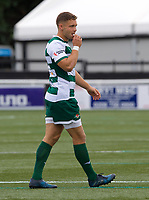 Elliot Millar Mills of Ealing Trailfinders during the RFU Championship Cup match between Ealing Trailfinders and Ampthill RUFC at Castle Bar , West Ealing , England  on 28 September 2019. Photo by Alan  Stanford / PRiME Media Images