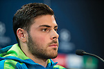 Kevin Volland of Bayern 04 Leverkusen during the press conference before the match of Uefa Champions League between Atletico de Madrid and Bayern Leverkusen at Vicente Calderon Stadium  in Madrid, Spain. March 14, 2017. (ALTERPHOTOS / Rodrigo Jimenez)