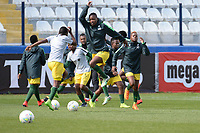 20190304 - LARNACA , CYPRUS : Warming up South African team pictured during a women's soccer game between Czech Republic and South Africa , on Monday 4 March 2019 at the Antonis Papadopoulos Stadium in Larnaca , Cyprus . This is the third game in group A for Both teams during the Cyprus Womens Cup 2019 , a prestigious women soccer tournament as a preparation on the Uefa Women's Euro 2021 qualification duels. PHOTO SPORTPIX.BE | STIJN AUDOOREN