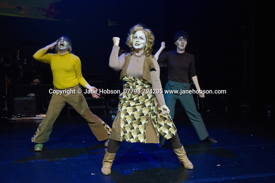 Edinburgh, UK. 02.08.2014. The Pleasance hosts its press launch in its 30th anniversary year on the Fringe. Picture shows: an extract from Kill The Beast's HE HAD HAIRY HANDS, a comedy-werewolf-mystery.   Photograph © Jane Hobson Photograph © Jane Hobson,