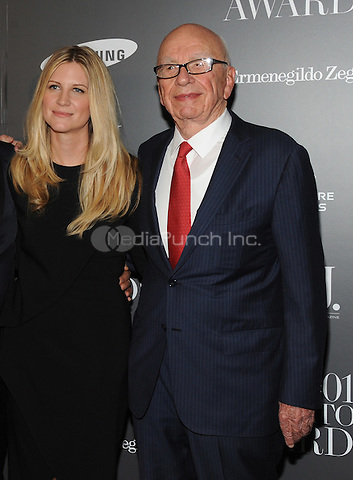 New York, NY-  November 5: Natalie Ravitz and  Rupert Murdoch attends the WSJ ' Innovator Of The Year' Awards at the Museum Of Modern Art on November 5, 2014 in New York City. Credit: John Palmer/MediaPunch