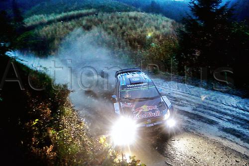 14.11.2015. Wales. WRC Rally of Great Britan. Stages 11-14, Wales.  <br /> Sebastien Ogier (FR) and Julien Ingrassia (FR) - Volkswagen Polo WRC
