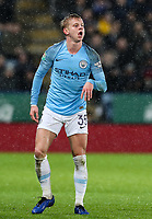 Manchester City's Oleksandr Zinchenko <br /> <br /> Photographer Andrew Kearns/CameraSport<br /> <br /> English League Cup - Carabao Cup Quarter Final - Leicester City v Manchester City - Tuesday 18th December 2018 - King Power Stadium - Leicester<br />  <br /> World Copyright &copy; 2018 CameraSport. All rights reserved. 43 Linden Ave. Countesthorpe. Leicester. England. LE8 5PG - Tel: +44 (0) 116 277 4147 - admin@camerasport.com - www.camerasport.com