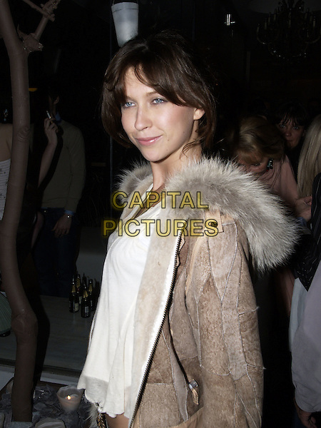MARGOT STILLEY.Paul & Joe Store Launch Party, Slaone Street, London, April 14th 2005..half length fur coat jacket.Ref : BOB.www.capitalpictures.com.sales@capitalpictures.com.©Capital Pictures.