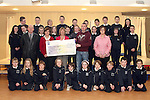 Students of Cartown National School, Parents Council, Brenda McGrane and Olivia McAuley, Principal, Gerry Campbell and teacher Shane Reilly present cheque to Ann Tracey of the Gary Kelly Centre....Photo NEWSFILE/Jenny Matthews.(Photo credit should read Jenny Matthews/NEWSFILE)....This Picture has been sent you under the condtions enclosed by:.Newsfile Ltd..The Studio,.Millmount Abbey,.Drogheda,.Co Meath..Ireland..Tel: +353(0)41-9871240.Fax: +353(0)41-9871260.GSM: +353(0)86-2500958.email: pictures@newsfile.ie.www.newsfile.ie.FTP: 193.120.102.198.