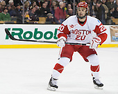 Matt Ronan (BU - 20) - The Boston College Eagles defeated the Boston University Terriers 3-1 (EN) in their opening round game of the 2014 Beanpot on Monday, February 3, 2014, at TD Garden in Boston, Massachusetts.