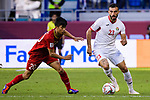 Ehsan Manel Haddad of Jordan (R) fights for the ball with Phan Van Duc of Vietnam (L) during the AFC Asian Cup UAE 2019 Round of 16 match between Jordan (JOR) and Vietnam (VIE) at Al Maktoum Stadium on 20 January 2019 in Dubai, United Arab Emirates. Photo by Marcio Rodrigo Machado / Power Sport Images