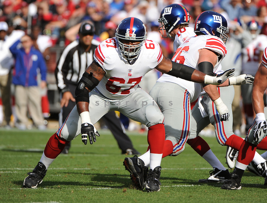 KAREEM MCKENZIE, of the New York Giants, in action during the Giants game against the San Francisco 49ers on November 13, 2011 at Candlestick Park in San Francisco, CA. The 49ers beat the Giants 27-20.