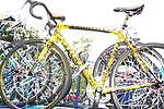 One of Lance Armstrong's Trek bikes on the team car before the start of Stage1 of the 2009 Tour of Ireland, running 196km from the Ritz-Carlton Hotel Powerscourt, Enniskerry to Waterford, Ireland. 21st August 2009.<br /> (Photo by Eoin Clarke/NEWSFILE)