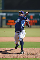 Tampa Bay Rays pitcher Eduar Lopez (67) during an instructional league game against the Baltimore Orioles on September 25, 2015 at Ed Smith Stadium in Sarasota, Florida.  (Mike Janes/Four Seam Images)