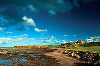 Long Craigs and Winterfield Golf Course from the John Muir Way, Belhaven Bay, John Muir Country Park, Dunbar, East Lothian
