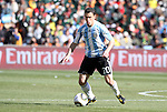 17 JUN 2010: Maxi Rodriguez (ARG). The Argentina National Team defeated the South Korea National Team 4-1 at Soccer City Stadium in Johannesburg, South Africa in a 2010 FIFA World Cup Group E match.