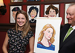 Melissa Benoist with Max Klimavicius during her Sardi's portrait unveiling at Sardi's on July 31, 2018 in New York City.