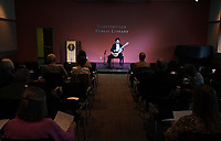 NWA Democrat-Gazette/J.T. WAMPLER Peter Fletcher performs Sunday March 18, 2018 at the Fayetteville Public Library.<br />The award-winning classical guitarist offered a program featuring a wide range of composers: Bach, Satie and Paganini among others. Fletcher began guitar study at the age of seven under John Sutherland.  Fletcher furthered his studies in master classes with David Leisner, David Russell, Oscar Ghiglia and Pepe Romero. As a performer in the Christopher Parkening Master Class in 1988, he was broadcast on National Public Radio. In 1990, the Music Teacher's National Association (MTNA) awarded Fletcher a prize at its National Level Competition, and in 1995 he received the Master of Music degree from the Eastman School of Music under Nicholas Goluses, and was twice the recipient of an Eastman Graduate Award. Current recordings involve an all-Grieg album, for which he himself wrote the guitar transcriptions, released in 2014, and a Christmas Album in 2015. His current CD features live performances of Bach's First Lute Suite, Ravel's Empress of the Pagodas, Leyenda and Sevilla by Albeniz, and music by Tansman, Reusner, Couperin, de Visee, Satie and Carlo Domeniconi. Peter divides his time between Detroit and New York City.