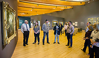 NWA Democrat-Gazette/BEN GOFF @NWABENGOFF<br /> Dr. Nile Blunt, head of school programs at Crystal Bridges Museum of American Art, leads a tour for the Springdale board of education and administrators Tuesday, April 9, 2019, at the museum in Bentonville.