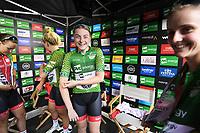 Picture by Simon Wilkinson/SWpix.com 10/05/2018 - Cycling, OVO Energy Tour Series Women's Race, Redditch. Abbie Dentus Megan Barker Team Breeze