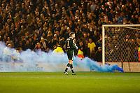 Barnsley v Leeds..EFL Championship 21.1.17 .... leeds keeper rob green and flare