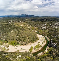 France, Hérault (34), Brissac, Gorges de l'Hérault (Vue aérienne) // France, Herault, Brissac, Gorges de l'Herault (Aerial View)