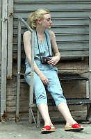 NEW YORK CITY- July 03, 2012: Dakota Fanning  shooting on location for the new film, Very Good Girls. &copy; RW/MediaPunch Inc. *NORTEPHOTO*<br />