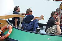 SKUTSJESILEN: HEEG: Hegemer Mar, 14-08-2012, IFKS skûtsjesilen, A-klasse, skûtsje Ut & Thús, schipper Henk Regts, Gerard Schootstra (adviseur), ©foto Martin de Jong