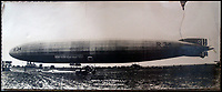 BNPS.co.uk (01202 558833)<br /> Pic:  PeterWilson/BNPS<br /> <br /> The R34 airship shortly after landing at Mineola in America on July 6th, 1919.<br /> <br /> A charming letter which was carried on the first airship to cross the Atlantic has come to light 100 years later.<br /> <br /> Reverend George Jones, who was stationed at the Royal Naval Air Station East Fortune near Edinburgh, wanted to surprise his sister Donie by sending her a letter from America.<br /> <br /> So he gave the letter to one of the crew of airship R34 ahead of the historic flight on July 2, 1919, and asked him to post it to Donie from New York.<br /> <br /> He obliged and the letter reached its final destination in Bournemouth, Dorset, several months later as it made the return journey via ship.