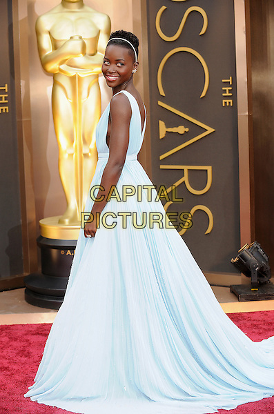 HOLLYWOOD, CA - MARCH 2: Lupita Nyong'o arriving to the 2014 Oscars at the Hollywood and Highland Center in Hollywood, California. March 2, 2014. <br /> CAP/MPI/COR<br /> &copy;Corredor99/ MediaPunch/Capital Pictures
