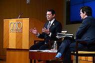 "Washington, DC - February 15, 2017:  U.S. Rep. Jason Chaffetz, Chairman of the House Committee on Oversight and Government Reform, discusses congressional findings on the use of ""Stingrays and ""Cell-site-simulators"" during a form at the CATO Institute in the District of Columbia February 15, 2017.  (Photo by Don Baxter/Media Images International)"