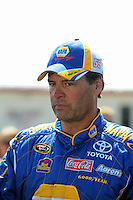Apr 25, 2009; Talladega, AL, USA; NASCAR Sprint Cup Series driver Michael Waltrip during qualifying for the Aarons 499 at Talladega Superspeedway. Mandatory Credit: Mark J. Rebilas-