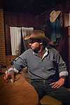 Night time in the cabin during the fall cattle gathering in the High Sierra...Jason Cazzad