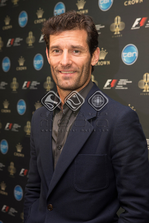 Australia's Mark Webber joins V8 Supercar drivers on the red carpet at the official welcome party for the the Melbourne Grand Prix, Melbourne Grand Prix  2014 Australian V8 Supercars  at the Albert Park, Melbourne, Victoria, March 12, 2014.<br /> &copy; Sport the library / Mark Horsburgh